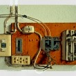 Stock Photo: Old electrical panel switch