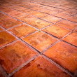Stock Photo: Square red tiles floor