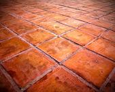 Skyline rood tegels vloer — Stockfoto