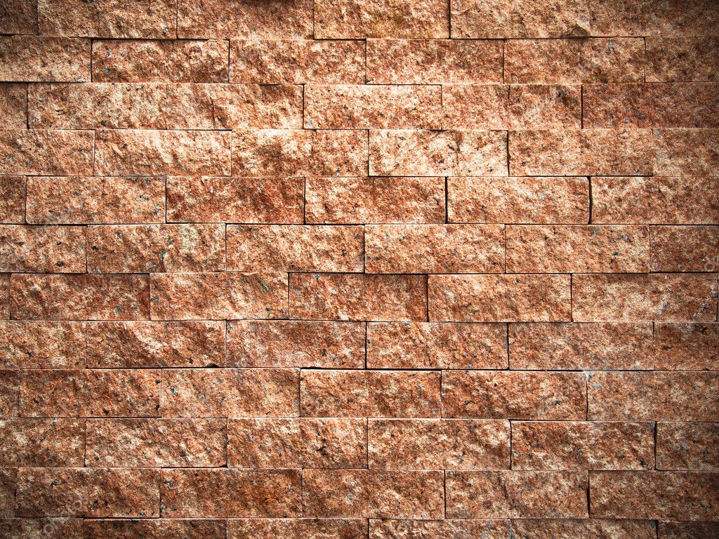 Red Stone Texture : Texture of rectangle pattern red stone — stock photo