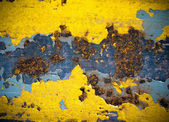 Rust on yellow color steel — Stock Photo
