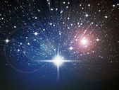 Bright white star in space — Stock Photo
