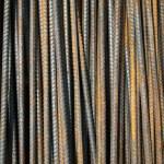 Deformed bars Steel shafts — Stock Photo