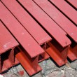 Steel I-shaped beams — Stockfoto #4131218