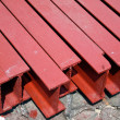 Stock Photo: Steel I-shaped beams