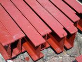 Stalen i-vormige balken — Stockfoto