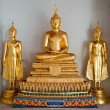 Three thai golden buddha image - Stock Photo