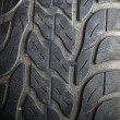 Texture of old tire — Stock Photo