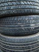Texture of old three tire — Stock Photo