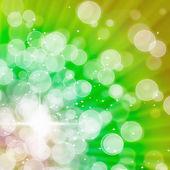 Abstract of Green Aura White bokeh — Stock Photo