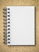 Open single blank white note book — Stock Photo