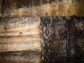 Vieux bois brun grunge — Photo