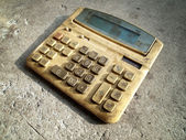 Dirty old calculator — Stock Photo