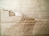 Torn Brown crumpled cardboard — Stock Photo