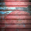 Grunge color paint on metal wall — Stock Photo