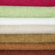 Examples of colored cotton — Stockfoto