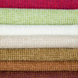 Examples of colored cotton — Stok fotoğraf