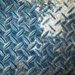 Foto Stock: Blue floor steel plate