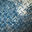 Foto de Stock  : Blue floor steel plate