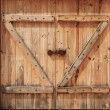 Old wooden doors closed — Stockfoto