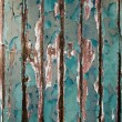 Old green chipping wood wall — Foto de stock #5256462