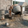 Small cement mixer - Foto Stock