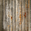 Stock Photo: Rust on piece of zinc