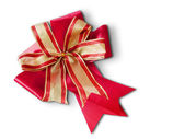 Red and gold bow — Stock Photo