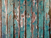 Old green chipping wood wall — Foto Stock
