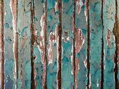 Vecchio verde cippatura parete in legno — Foto Stock