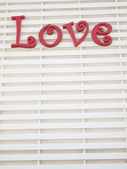 Red Love Sign letter — Stock Photo
