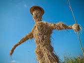 Scarecrow made of straw — Stock Photo