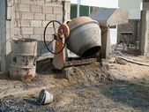 Small cement mixer — Stock Photo
