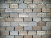 Brick walls lining Block layer — Stock Photo