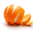 Rind  of orange cutaway in spiral shape — Stock Photo