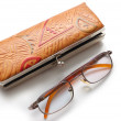 Glasses and case — Stock Photo