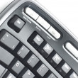 Stock Photo: Ergonomic keyboard on white