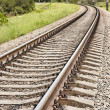 Railway track receding into the distance — Stock Photo