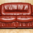 New leather divan in lobby — Stock Photo