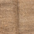 Ecological material: sackcloth. Ideally as background — Stock Photo