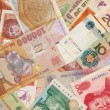 A collection of various currencies from different countries — Stock Photo