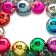 Frame from xmas tree decorations — Stock Photo