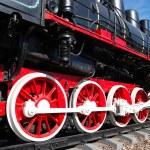 Vintage steam locomotive — Stock Photo
