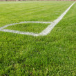 View of soccer field from corner — Stock Photo