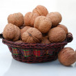 Royalty-Free Stock Photo: Basket with walnuts