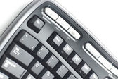 Ergonomic keyboard on white — Stock Photo