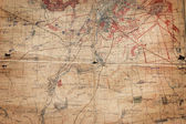Old broken military map — Stock Photo