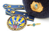 Elements of uniform of Ukrainian military officer (air force) — Stock Photo