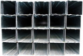 Building materials: metallic profile — Stock Photo