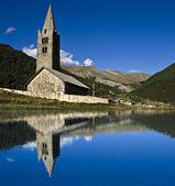 Église et son reflet — Stok fotoğraf